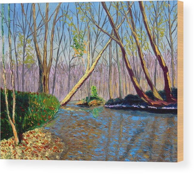 Landscape Wood Print featuring the painting Mooresville 11 2 by Stan Hamilton