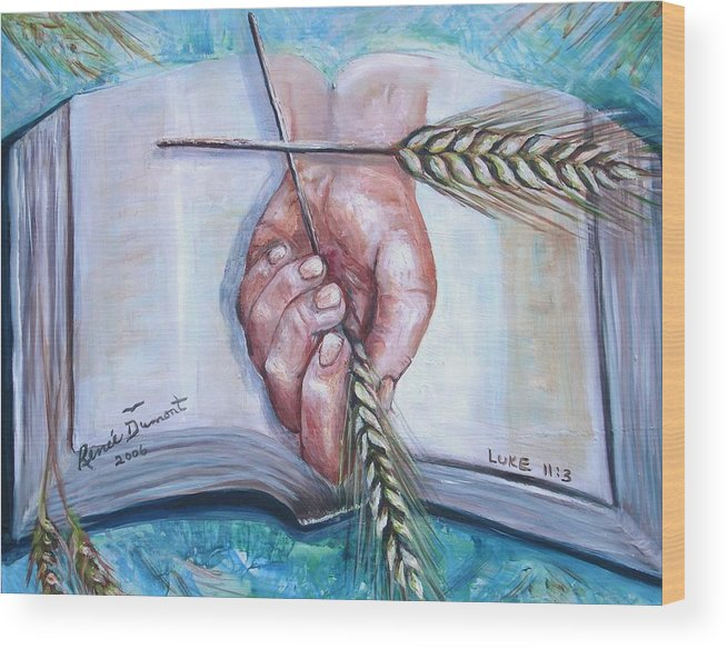 Contemporary Wood Print featuring the print Our Daily Bread by Renee Dumont Museum Quality Oil Paintings Dumont