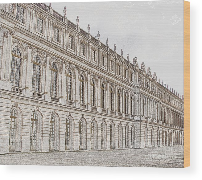 France Wood Print featuring the photograph Palace Of Versailles by Amanda Barcon