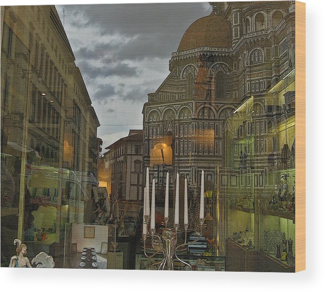 Italy Wood Print featuring the photograph Piazza Del Duomo by Sonia Melnikova-Raich