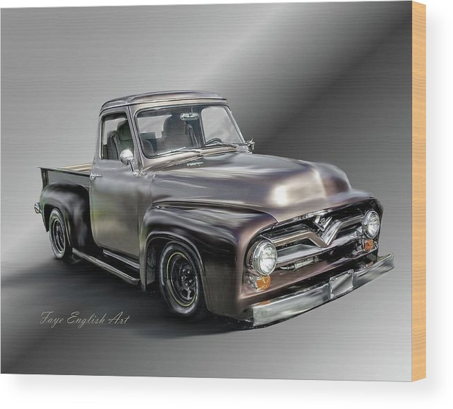 Pickup Wood Print featuring the digital art Pickup Named Penny by Faye English