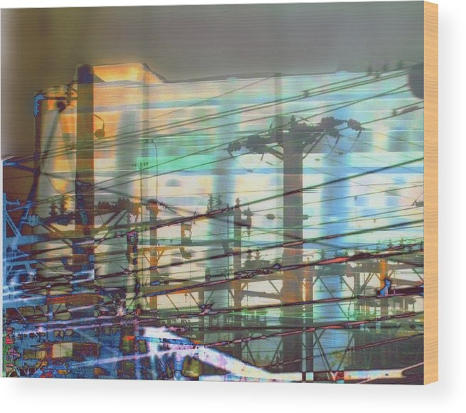 Electric Wood Print featuring the photograph Power 1 by Ann Tracy