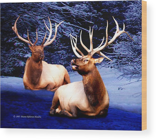 Alaska Wood Print featuring the photograph Royal Elk by Dianne Roberson