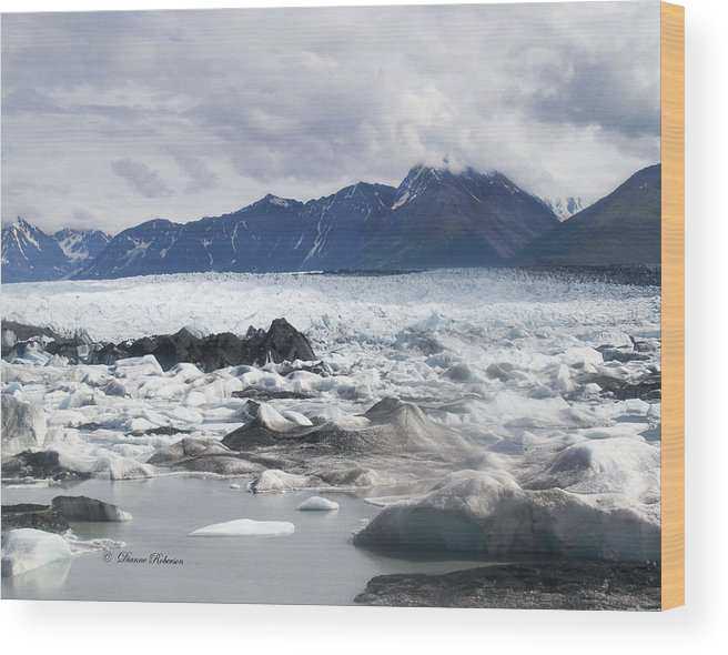 Alaska Wood Print featuring the photograph September's Knik Glacier by Dianne Roberson