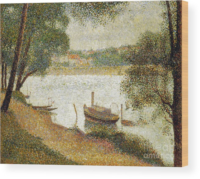 19th Century Wood Print featuring the photograph Seurat: Gray Weather by Granger