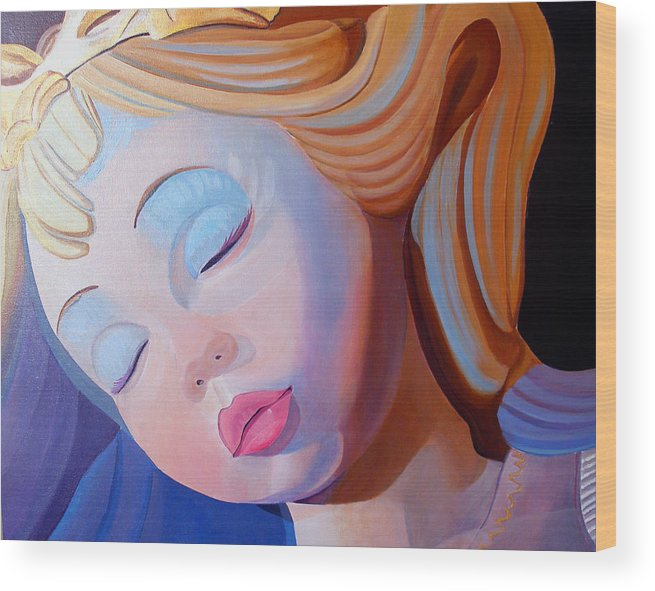 Doll Wood Print featuring the painting Sleeping Beauty by JoeRay Kelley