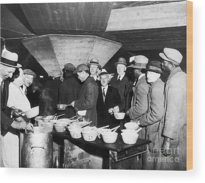 1931 Wood Print featuring the photograph Soup Kitchen, 1931 by Granger