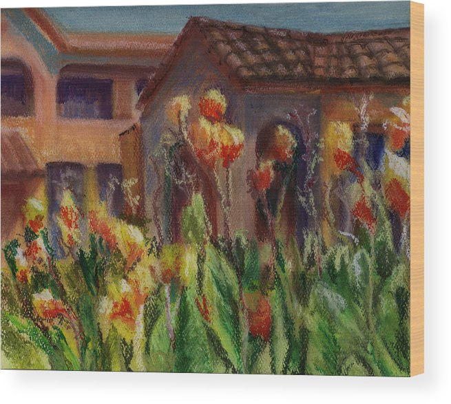 House Wood Print featuring the painting Spanish Abode by Patricia Halstead