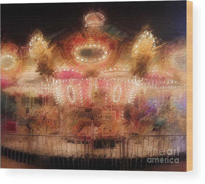 Featured Wood Print featuring the photograph Spinning At The Speed Of Light by Jenny Revitz Soper