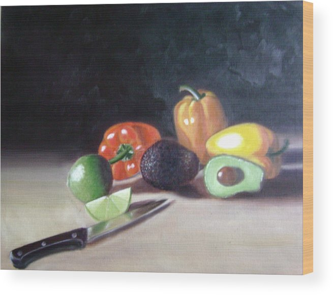 Wood Print featuring the painting Still-life by Toni Berry