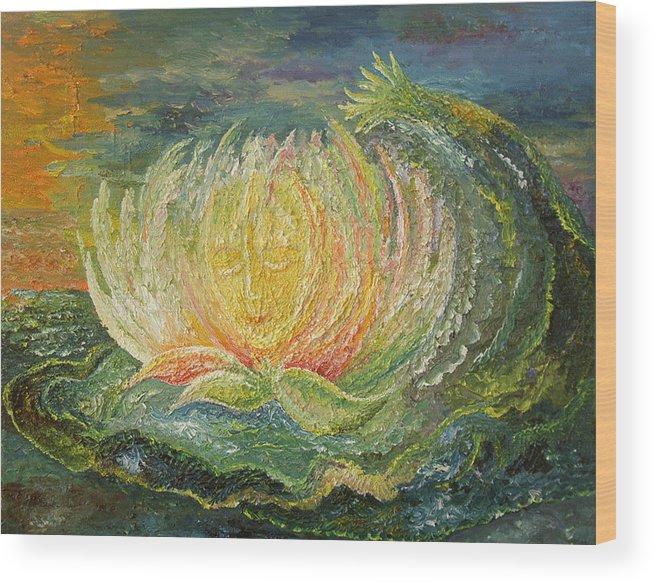 Flower Wood Print featuring the painting Sweet Morning Dream by Karina Ishkhanova