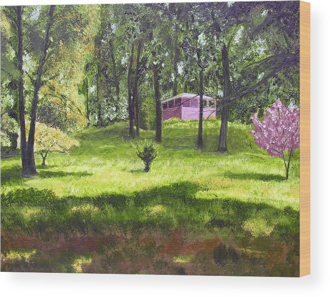 Landscape Wood Print featuring the painting T C Steels by Stan Hamilton