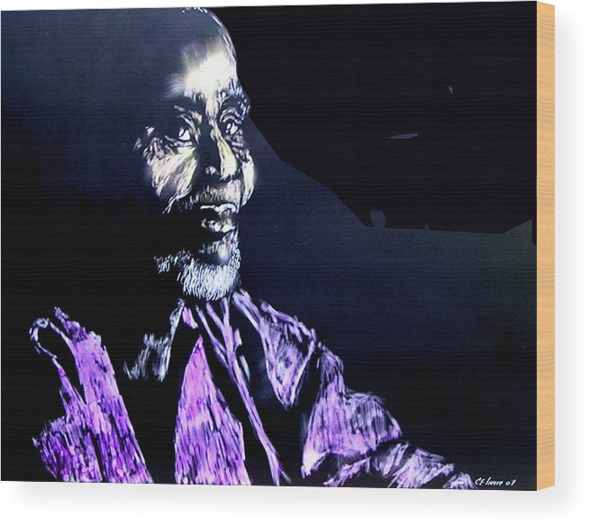 Wood Print featuring the mixed media The Elder by Chester Elmore