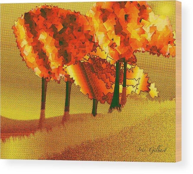 Illustration Wood Print featuring the digital art Treeport by Iris Gelbart