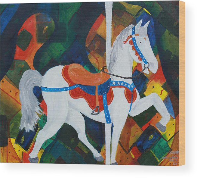 Horse Wood Print featuring the painting Unforgettable Magic by Tammy Dunn