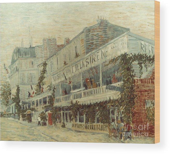 1887 Wood Print featuring the photograph Van Gogh: La Sirene, 1887 by Granger