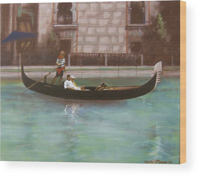 Smooth Sailing Wood Print featuring the painting Venetian by Howard Stroman