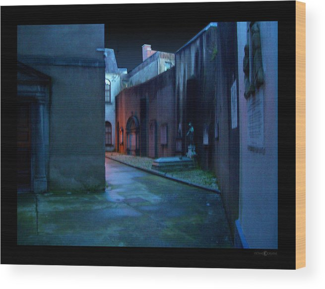 Waterford Wood Print featuring the photograph Waterford Alley by Tim Nyberg