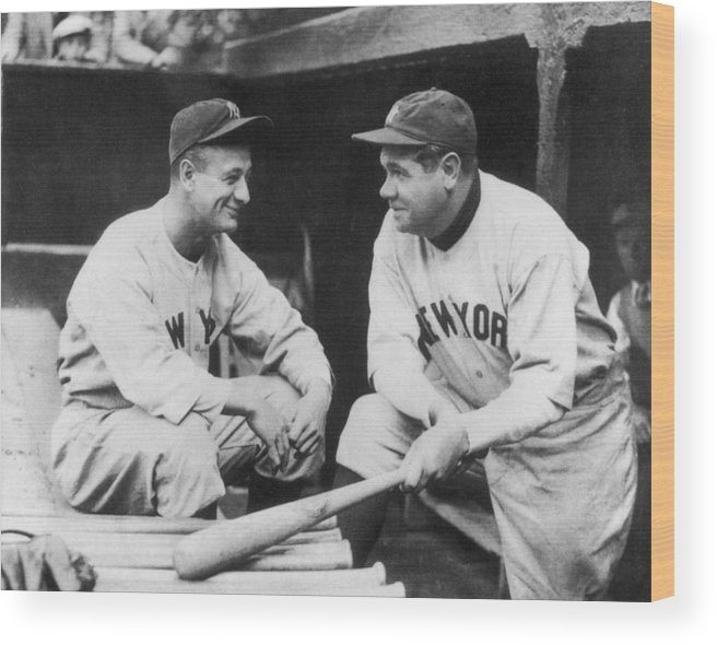 1930-1939 Wood Print featuring the photograph New York Yankees by Mpi