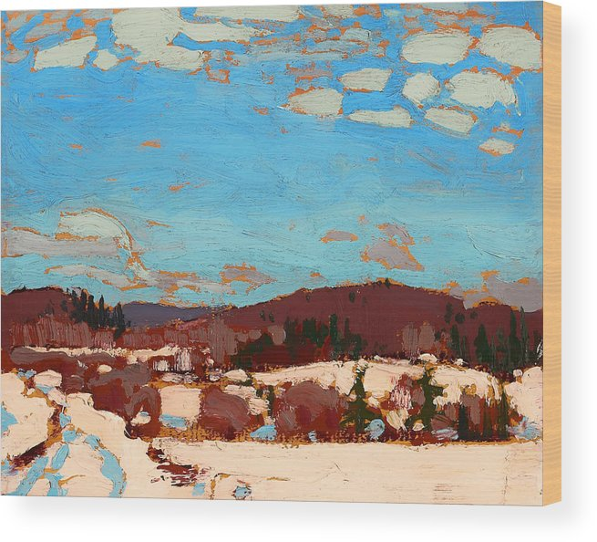 Painting Wood Print featuring the painting Early Spring by Mountain Dreams