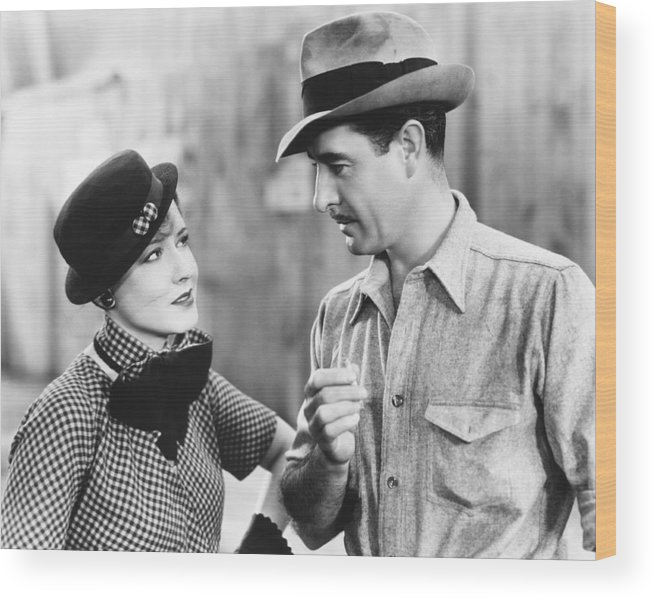 1930s Movies Wood Print featuring the photograph Fast Workers, From Left, Mae Clarke by Everett