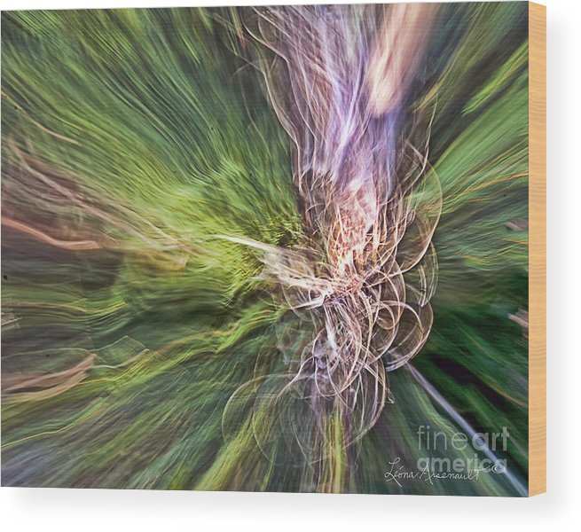 Abstract Wood Print featuring the photograph Pathways by Leona Arsenault