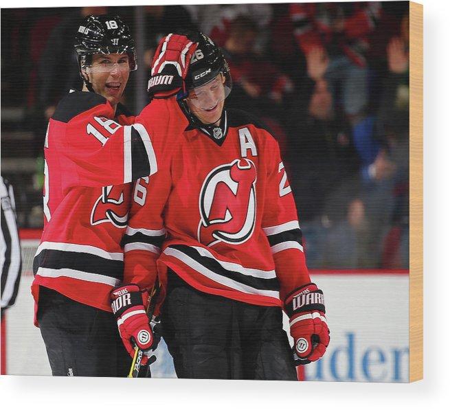 hot sale online ab76b aa7db Vancouver Canucks V New Jersey Devils Wood Print