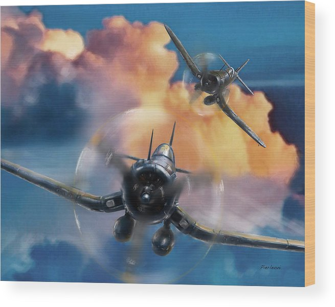 Cosair Wood Print featuring the photograph Cosair by Tony Pierleoni