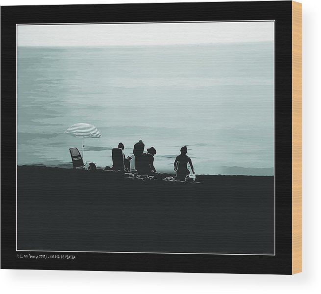 Aircraft Wood Print featuring the photograph A Day At The Beach by Pedro L Gili
