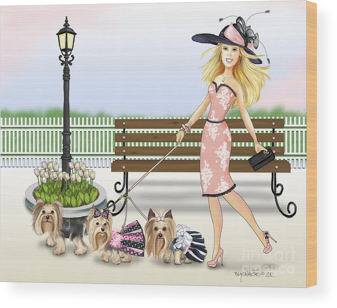 3 Wood Print featuring the digital art A Day At The Derby by Catia Lee