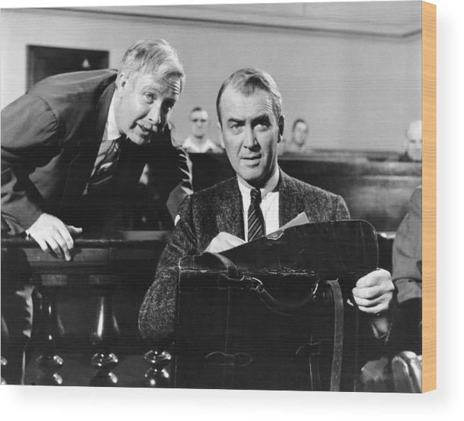 1950s Movies Wood Print featuring the photograph Anatomy Of A Murder, From Left Arthur by Everett