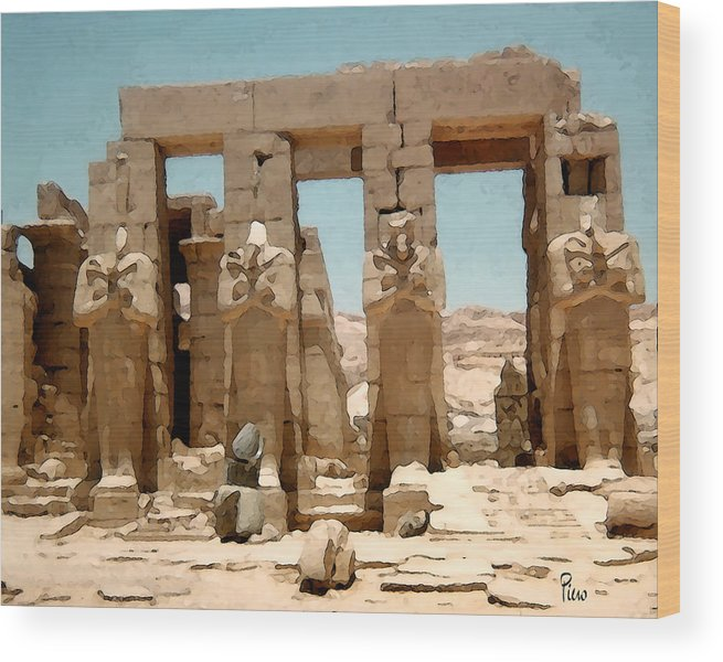 Art Wood Print featuring the photograph Ancient Egypt by Piero Lucia