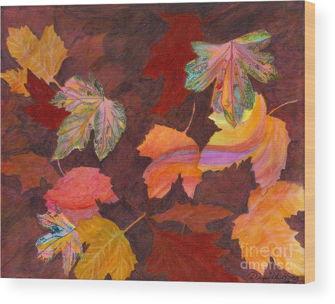 Autumn Wood Print featuring the painting Autumn Wonder by Denise Hoag