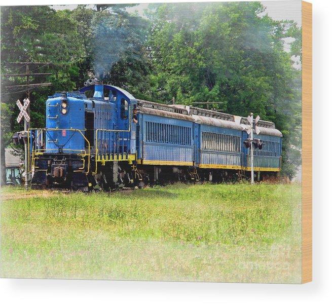 Bluebird Train Wood Print featuring the photograph Bluebird Train by Jack Schultz