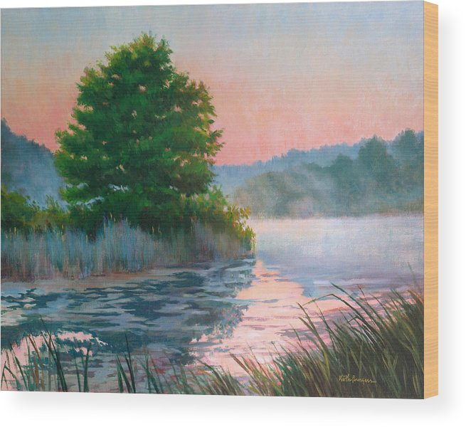 Impressionism Wood Print featuring the painting Break Of Day by Keith Burgess