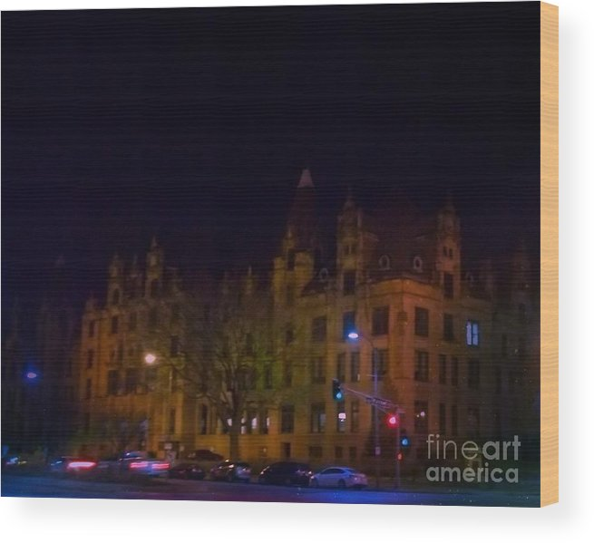 Wood Print featuring the photograph St. Louis City Hall by Kelly Awad