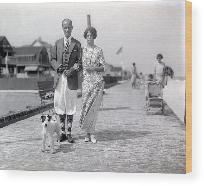 Vintage Photographs Wood Print featuring the photograph Cool Duds by William Haggart