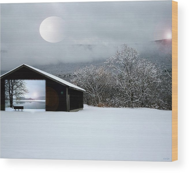 Art Wood Print featuring the photograph Day In Day Out by Linda Galok