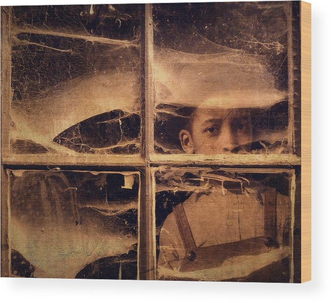 Windows Wood Print featuring the photograph Forgotten 1 by Timothy Bulone