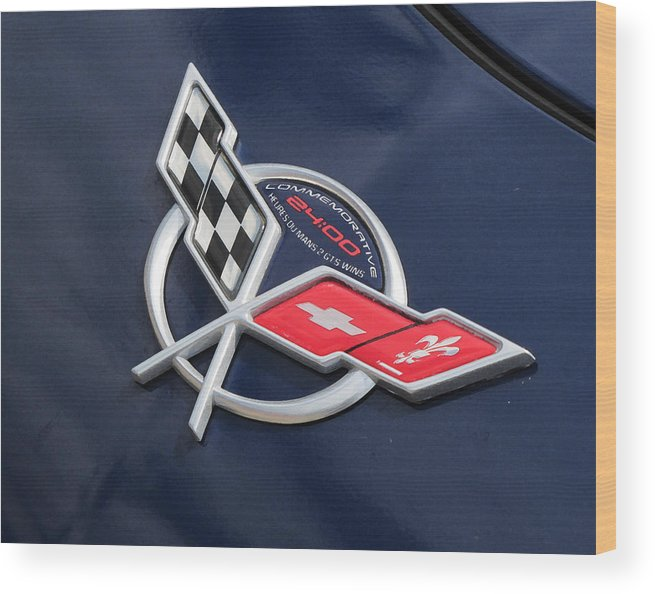 Corvette Wood Print featuring the photograph His Baby by Liz Tomlinson