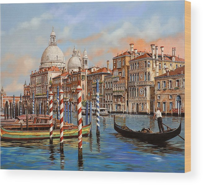 Venice Wood Print featuring the painting Il Canal Grande by Guido Borelli