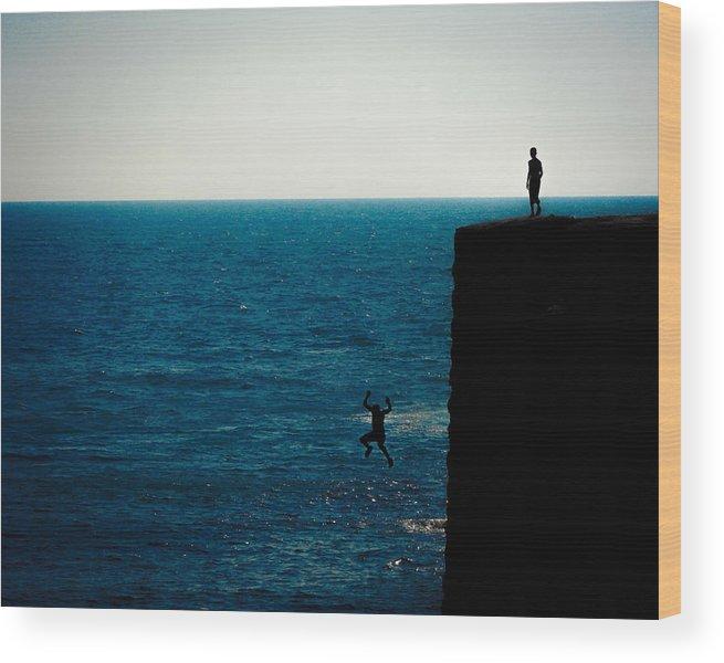 Adult Wood Print featuring the photograph Jump by Jordan Kaplan