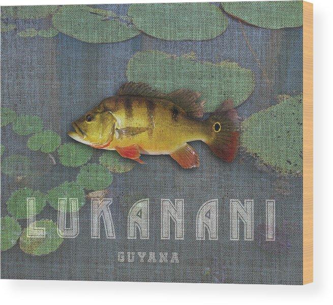 Guyana Wood Print featuring the digital art Lukanani by Mark Khan