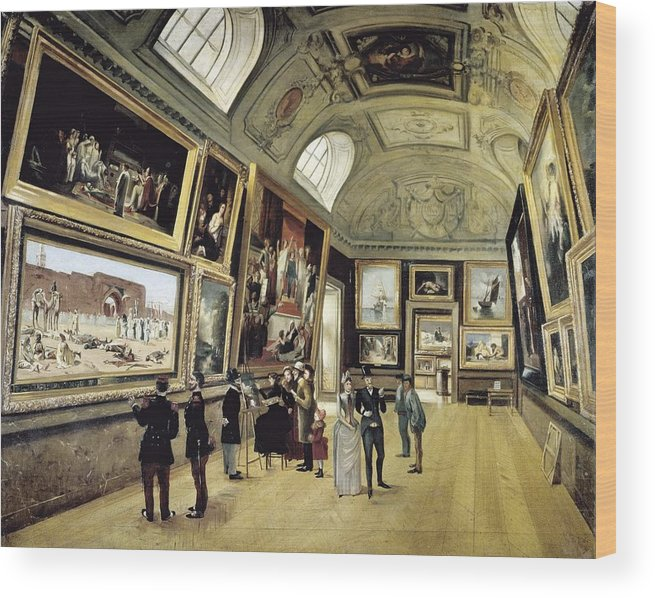 Horizontal Wood Print featuring the photograph Luxembourg Palace. One Of Its Halls by Everett