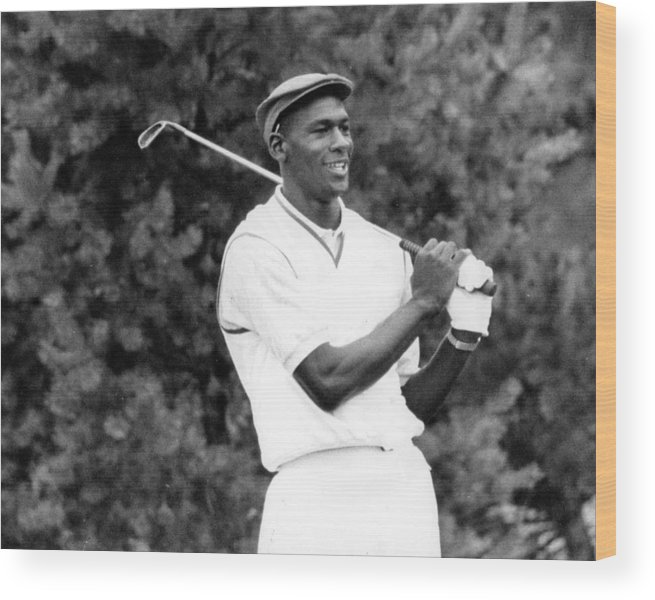 Classic Wood Print featuring the photograph Michael Jordan Playing Golf by Retro Images Archive