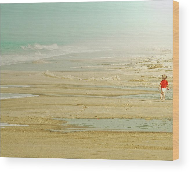 Young Wood Print featuring the photograph My Way by Ambra