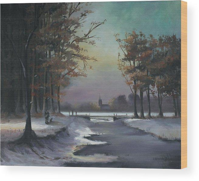 a07e7ff96f4 New England Winter Walk Oil Canvas Painting Landscape Winter Scene Church  River Man Walking His Dog