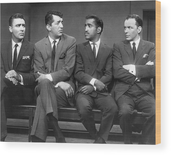 1960 Wood Print featuring the photograph Ocean's Eleven Rat Pack by Underwood Archives