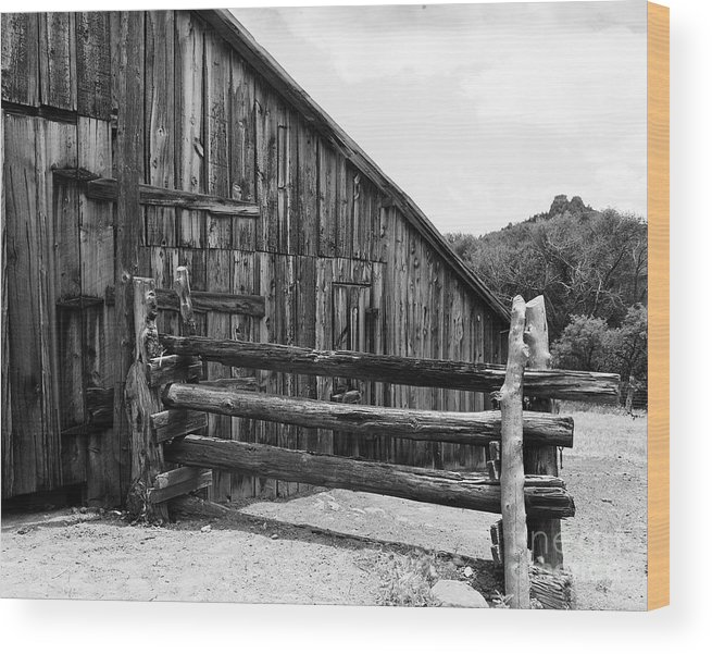 Barn Wood Print featuring the photograph Old Barn by Judy Bottler