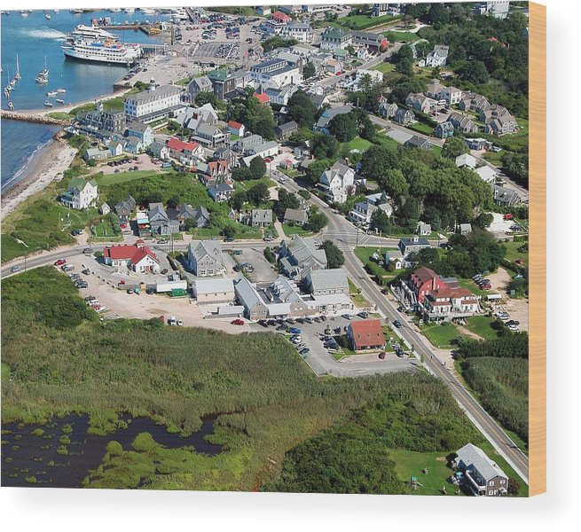 Wood Print featuring the photograph Old Harbor Village by Richard Sherman